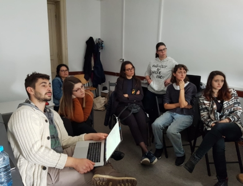"""VR lecture and workshop, 7th May 2019 @ National University of Theatre and Film """"I.L. Caragiale"""" Bucharest"""